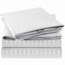 mellanni striped bed sheet set brushed microfiber 1800