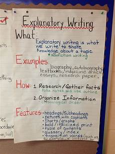 How To Essay Example For Kids Explanatory Writing Anchor Chart Explanatory Writing