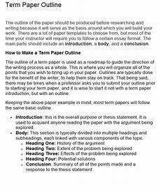 Term Paper Outline How To Write A Term Paper Step By Step Guide For Beginners