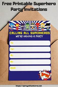 Printable Superhero Invitations Free Printable Superhero Invitations