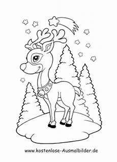 ausmalbilder tiere im winter kostenlos