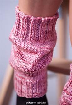 free scrunchable knitted leg warmer pattern expression
