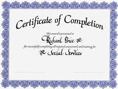 Generic Certificate Of Completion Generic Certificate Of Completion Official Example Pdf