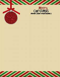 Free Downloadable Stationery Free Personalized Christmas Stationery