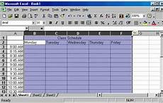 Make A Schedule In Excel Creating A Class Schedule Using Excel