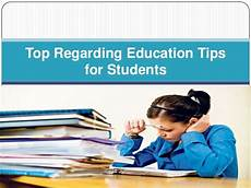 top regarding education tips for students