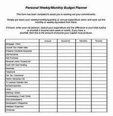 Weekly Budget Excel Template Free 10 Weekly Budget In Pdf Google Docs Google