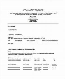Cv Format For Doctors Pdf Doctor Curriculum Vitae Template 9 Free Word Pdf