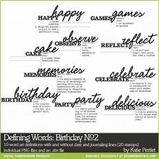 Defining Words Defining Words Birthday Brushes And Stamps No 02