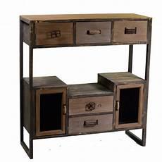 mobile per sala da pranzo mobile cucina stile vintage legno e ferro ante e cassetti