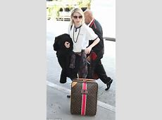 Emma Roberts arrives at LAX with personalised Louis