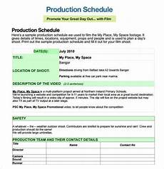 Video Project Template 12 Shooting Schedule Templates Word Excel Pdf Word