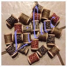 fabric crafts primitive primitive decor wooden spools with homespun fabric