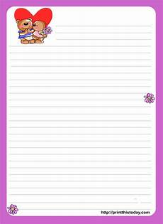 Letter Writing Paper Template Love Letter Stationery 8 Png 1667 215 2292 Writing Paper