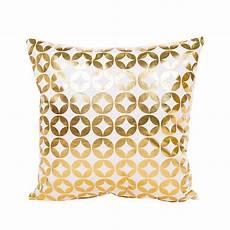 gold bronzing cushion cover 45x45 geometry pattern