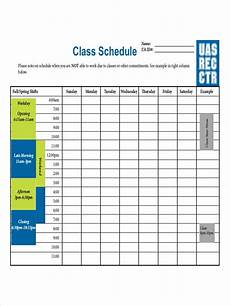 College Scheduler Free 6 College Schedule Examples Amp Samples In Pdf Doc