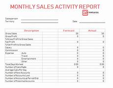 Sales Activity Report Template Excel Sales Report Templates 10 Monthly And Weekly Sales