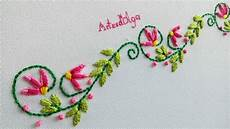 embroidery borderline embroidery design bordado a