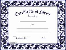 Merit Certificate Sample 6 Merit Certificate Templates Fine Word Templates