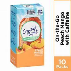 Crystal Light Energy Peach Mango Crystal Light On The Go Sugar Free Peach Mango Powdered