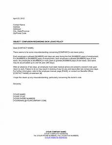 Sick Leave Note Confusion Regarding Sick Leave Policy Template Amp Sample