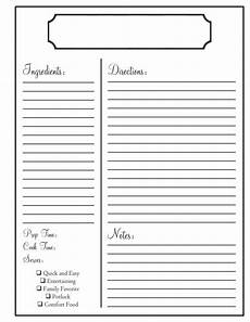 Word Template Recipe Home Recipe Book Templates Family Recipe Book Recipe
