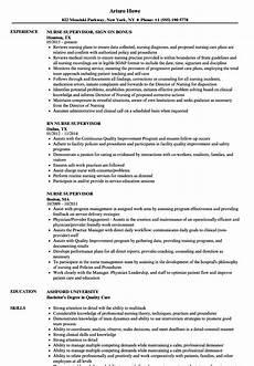Nursing Supervisor Job Description Nurse Supervisor Resume Samples Velvet Jobs