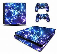 Ps4 Remote Light Blue Blue Electric Sticker Skin Ps4 Slim Playstation 4 Console