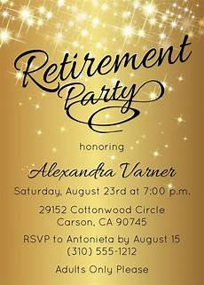 Retirement Invitations Online Gold Retirement Invitation Gold Retirement Party