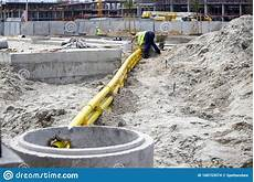 Cable Duct Bank Design Underground Cable Duct Bank Installation Stock Photo