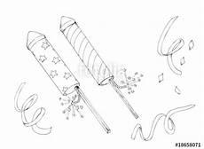 Ausmalbild Rakete Silvester Quot Sylvester Silvester Raketen Feuerwerk New Year Quot Stock