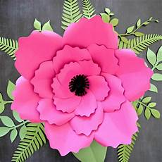 Paper Flower Template Giant Anemone Paper Flower Template With Poppy Center