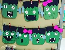 crafts halloween frankenstein craft freebie grade blue skies