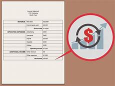 How To Write An Income Statement How To Write An Income Statement Expert Approved