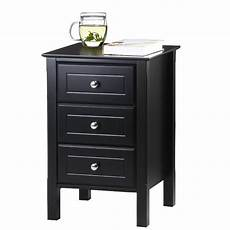 yaheetech nightstand 3 drawers bedside end table organizer