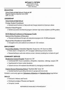 How To Build A College Resumes Samples Of High School Resumes Sample Resumes