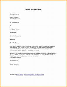 Sick Leave Note 11 Official Medical Leave Letter Examples Pdf Examples