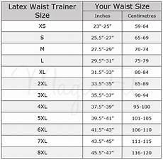 Hip Inches Size Chart Hi Tech Fat Burning Sports Waist Trainer