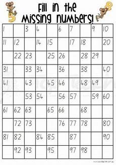Fill In 100 Chart Fill In The Missing Numbers Grids To 100 20 Different