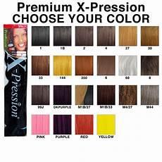 Hair Number Chart Amazon Com X Pression Premium Original Ultra Braid