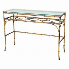 Bamboo Sofa Table 3d Image by Gilded Iron Faux Bamboo Console Table At 1stdibs