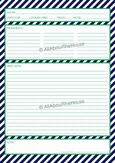 Word Template Recipe Recipe Template Allaboutthehouse Printables