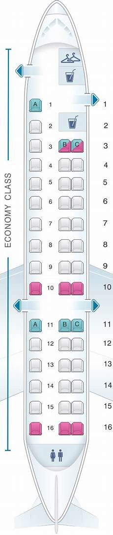 American Eagle Seating Chart Seat Map American Airlines Embraer Erj 140 Seatmaestro