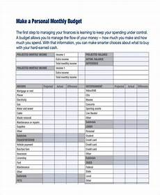Example Budget Free 17 Personal Budget Examples Amp Samples In Google Docs