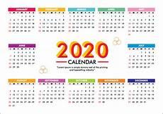 Week Calendar Calendar For 2020 Week Starts Sunday Free Vector
