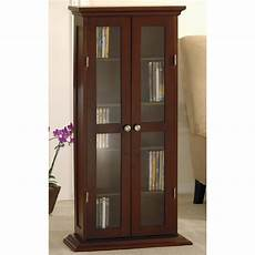 cd dvd cabinet with glass door winsome wood media storage