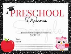 Preschool Graduation Certificates Instant Download Preschool Graduation Diploma For Girl