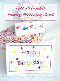 Free Downloadable Card Free Printable Birthday Card