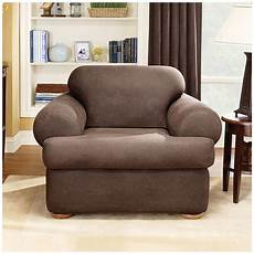 Surefit Sofa Slipcovers Leather 3d Image by Sure Fit 174 Stretch Leather 2 Pc T Chair Slipcover 581250