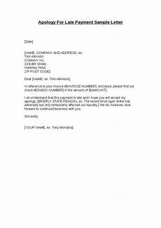 Late Payment Letter Sample Apology For Late Payment Sample Letter Business Letters